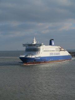 aankomst in Dover