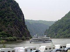 Langs de Rijn bij de Lorelei