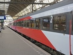 De internationale trein naar Belgi�