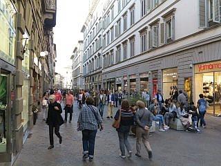 41233497711211 Shoppen in Florence  de winkelstraten