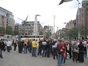 De Dam en de Bijenkorf in Amsterdam