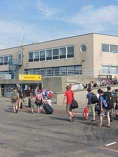aankomst veerboot in Harlingen