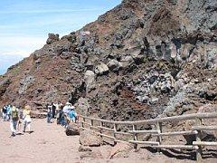 De top van de vesuvius