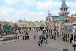 Het plein in Main Street