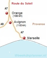 kaart van Avignon