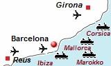 De veerboten van Barcelona