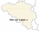 Kaart van de  Ardennen