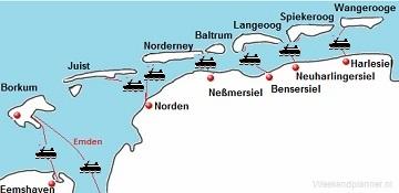 De Duitse Waddeneilanden Borkum Juist En Norderney