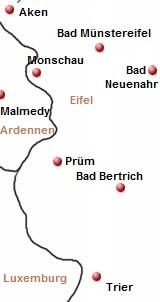 kaart van eifel