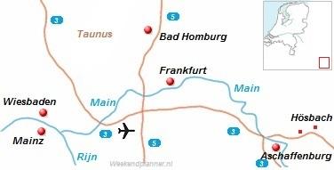 De snelwegen rond Frankfurt