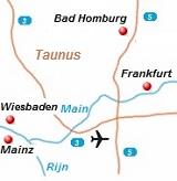 kaart Taunus