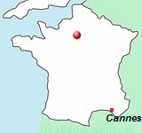 kaart van Zuid-Frankrijk