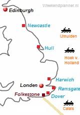 De veerboten naar Engeland