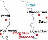 Plattegrond van het Ruhrgebied