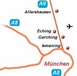 kaart van de randweg München A9