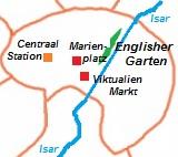 kaart van  München