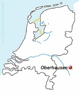 Plattegrond van Oberhausen