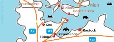 De havens van L�beck, Kiel en Rostock
