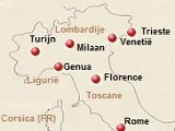 kaart van Noord-Italië