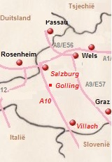 De A10 in Oostenrijk
