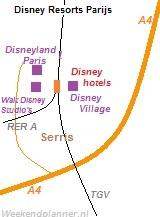 Kaart van Disneyland Parijs