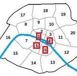 kaart van Parijs