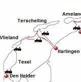 Veerboten vanuit Harlingen