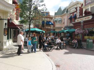 restaurants en terrasjs in Eurodisney